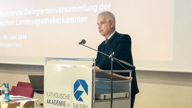BLAK-Präsident Thomas Benkert wurde am heutigen Mittwoch im Amt bestätigt. (Foto: DAZ.online)