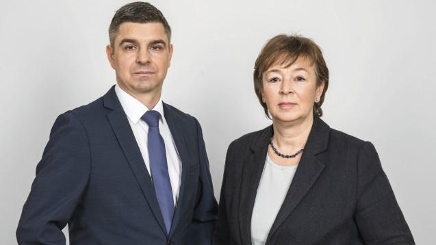 Adexa-Vorsitzender Andreas May und die zweite Vorsitzende Tanja Kratt, zuständig für Tarifpolitik, räumen Fehler in der eigenen Berichterstattung über einen Tarifabschluss in Nordhrein ein. (m / Foto: Adexa)