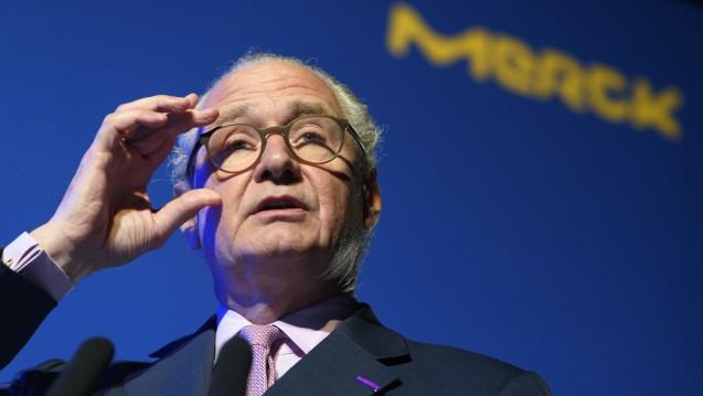 Merck-Vorstandschef Stefan Oschmann hofft auf einige Krebsarzneimittel sowie auf das Geschäft mit Sexualhormonpräparaten. (Foto: picture alliance / KEYSTONE)