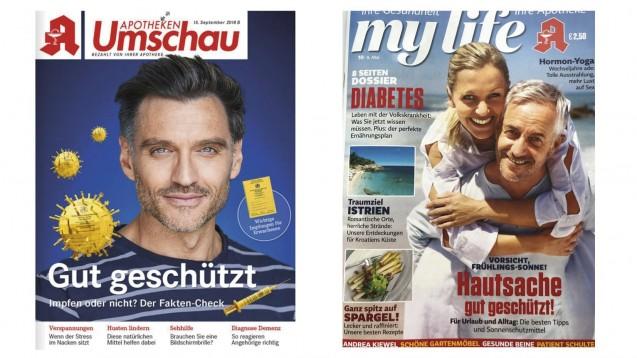 """Der Wort & Bild-Verlag hat mit seiner """"Apotheken Umschau"""" Konkurrenz bekommen. Noweda und der Burda-Verlag vertreiben jetzt """"My life"""". Nun sind beide Verlage in einem Fernduell aneinander geraten. (c / Foto: DAZ.online)"""