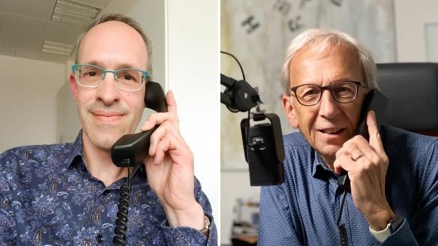 Peter Ditzel (rechts) hat im Podcast mit Christoph Ritter, Professor für Klinische Pharmazie an der Uni Greifswald, gesprochen.(Fotos: privat)