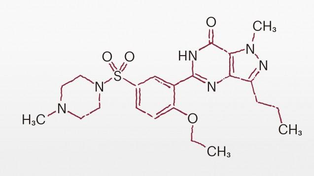 Sildenafil ist wohl der bekannteste Vertreter der PDE-5-Hemmer.