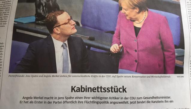 """Als """"Kabinettstück"""" bezeichnet die Süddeutsche Zeitung die Personalie Spahn. (Foto: jb / DAZ.online)"""