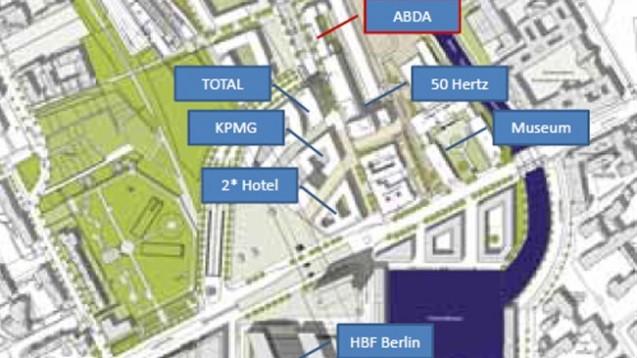 Hier an der Heidestraße in Berlin soll das neue Apothekerhaus entstehen.