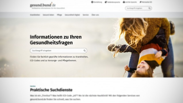 Das BMG-Portal gesund.bund.de (Screenshot: https://gesund.bund.de/)