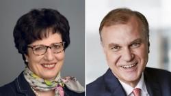 Ursula Funke, Kammerpräsidentin in Hessen, und der Vorsitzende des Apothekerverbandes Westfalen-Lippe, Dr. Klaus Michels. (s / Foto: LAK Hessen   AVWL)