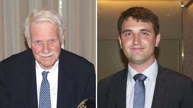 Dr. Jörn Graue (li.), Vorstandsvorsitzender des NARZ, erwartet noch lange eine tragende Rolle für das Papierrezept. Matthias Götzlaff wurde als Beisitzer neu in den Vorstand des NARZ gewählt. (s /Foto: tmb / DAZ)