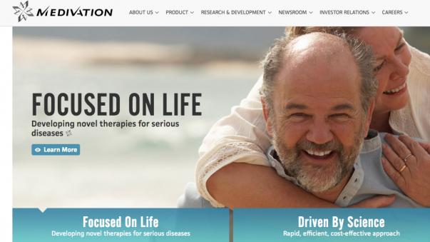 Heiß begehrt: Krebsspezialist Medivation aus den USA (Screenshot: DAZ.online)