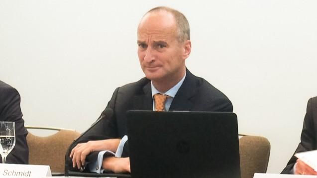 Friedemann Schmidt stellte bei der DAT-Auftaktpressekonferenz klar: Das Rx-Versandverbot ist der sicherste Weg, für Gleichpreisigkeit zu sorgen. (s / Foto: DAZ.online)