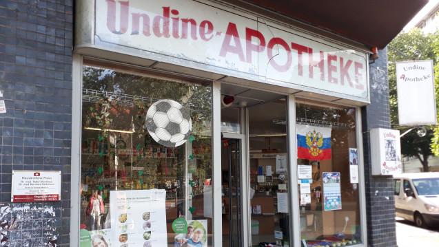 Die Undine-Apotheke in Berlin-Neukölln sorgte immer wieder für Schlagzeilen. Nun wird sie bald schließen. (Foto: DAZ.online)