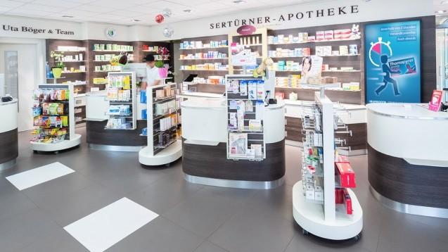 Insgesamt nehmen knapp 30 lokale Apotheken aus dem Frankfurter Stadtgebiet an der bis Ende Dezember laufenden Aktion teil, darunter auch die Sertürner Apotheke. (s / Foto: BD Rowa)