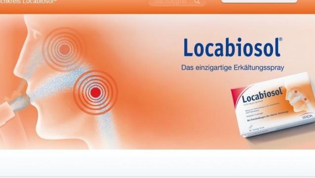 """Das """"einzigartige Erkältungsspray"""" ist möglicherweise bald Geschichte. (Foto: Screenshot Stada / DAZ)"""