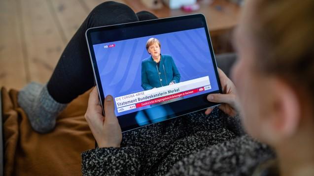 Bundeskanzlerin Angela Merkel (CDU) hat am heutigen Sonntag weitere Maßnahmen zur Eindämmung des Coronavirus verkündet. (Foto: imago images / Bösener)