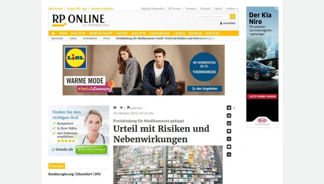 """Die """"Rheinische Post"""" hat den SPD-Gesundheitsexperten Karl Lauterbach nach seiner Einschätzung gefragt. Der bezeichnet den Umstand, dass nun die ausländischen Apotheken nicht mehr an die festen Preise gebunden sind, die deutschen aber schon, als """"Kernproblem"""" und """"erhebliche Wettbewerbsverzerrung"""". Wenn Apotheken durch den Preiskampf in den Ruin getrieben werden, könne die ortsnahe Versorgung nicht mehr gewährleistet werden. """"Den Menschen geht damit im schlimmsten Fall eine Grundversorgung mit Medikamenten zu jeder Tag- und Nachtzeit verloren."""""""