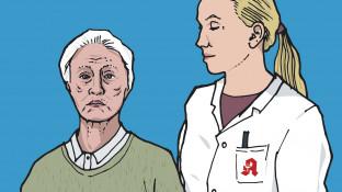 Eine geriatrische Patientin mit Hypertonie