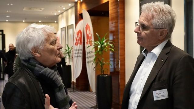 Theo Dingermann (rechts) hält nichts von pauschalen Arzneimittelbewertungen wie Gerd Glaeske sie für Stiftung Warentest vornimmt. (Foto: Müller/AV Nordrhein)