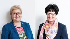 Claudia Berger, Vorsitzende des Saarländischen Apothekervereins, und Ursula Funke, Präsidentin der Landesapothekerkammer Hessen. (b/Fotos: ABDA)