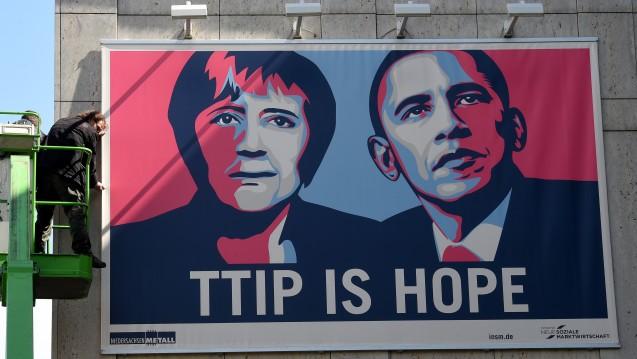 Besteht noch Hoffnung? Beim Besuch von US-Präsident Barack Obama in Hannover gab er sich noch zuversichtlich –wie auch Bundeskanzlerin Angela Merkel. (Foto: Holger Hollemann / dpa)