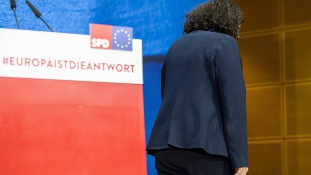 SPD-Chefin Andrea Nahles hat angekündigt, ihre Ämter als Partei- und Fraktionsvorsitzende niederzulegen. (Foto: imago images / Zuma Press)