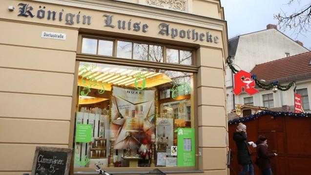 InKönigin Luisa Apotheke in Potsdam wurde vergangenen Freitag eine Paketbombe abgegeben. (Foto: dpa)