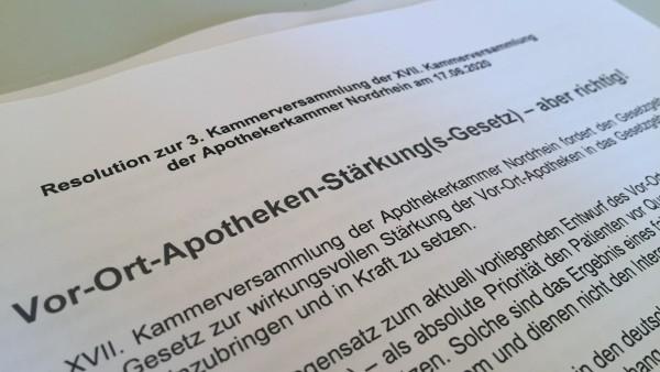 Resolution: Apothekenreform nur mit Rx-Versandverbot