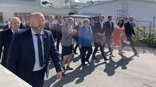 Angela Merkel besuchte das Gelände sowie die Produktionsgebäude von Medice in Iserlohn. (x / Foto: Edalat / DAZ)