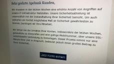 Vorsicht vor dieser Mail! Apobank-Kunden haben in den vergangenen Tagen betrügerische Phishing-Mails erhalten. (s / Foto: DAZ.online)