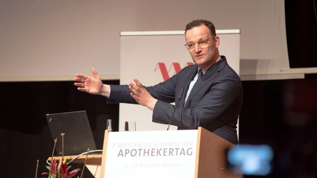 Jens Spahn auf dem Westfälisch-Lippischen Apothekertag: Im April könnte das Gesetzgebungsverfahren zur Apothekenreform starten. (Foto: AK Westfalen-Lippe)