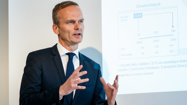 Pro Generika-Geschäftsführer Bork Bretthauer hält Europa als Produktionsstandort für pharmazeutische Wirkstoffe noch nicht für verloren. (c / Foto: Svea Pietschmann)