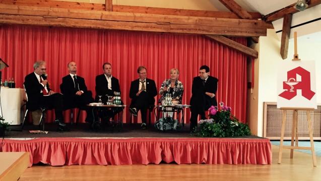 Podiumsdiskussion auf dem Thüringer Apothekertag (Foto: DAZ/rb)
