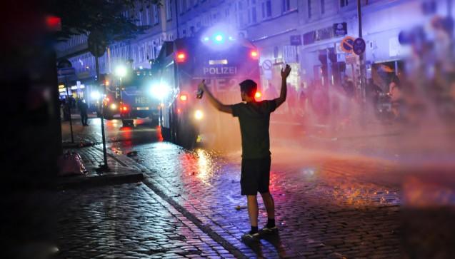 """Die Polizei hatte das gesamte Stadtvierteil um die Hamburger """"Schanze"""" schon mehrere Tage vor dem G20-Gipfel abgeriegelt. (Foto: privat)"""