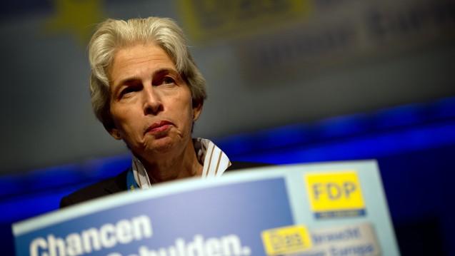 Nachdem sie sich von Apothekenketten distanziert hatte, fordert FDP-VizeMarie-Agnes Strack-Zimmermann nun doch die Aufhebung des Fremdbesitzverbotes. (Foto: dpa)