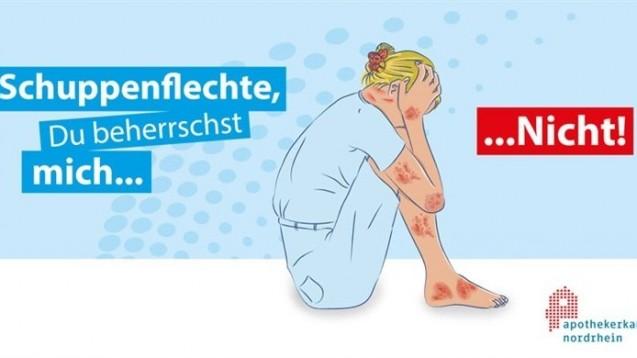 Die Apothekerkammer Nordrhein hat eine Aufklärungskampagne zum Thema Psoriasis gestartet. (Foto: AKNR)
