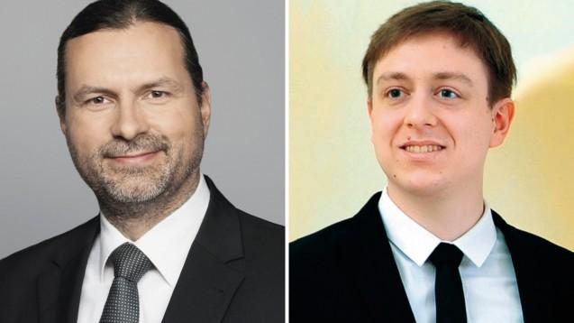 Zum Thema Ende-zu-Ende-Verschlüsselung haben Holm Diening und Martin Tschiersich unterschiedliche Ansichten. (Foto: Gematik / Die Hoffotografen GmbH Berlin / privat)