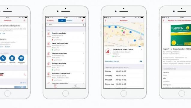 Die von der Apothekerkammer Österreich entwickelte App hat neben dem Notdienstfinder weitere Funktionen. (s / Foto: Screenshot https://www.apoapp.co.at)