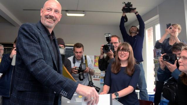 Der Bremer Spitzenkandidat Carsten Meyer-Heder kann sich bei der Bürgerschaftswahl über Zugewinne freuen und könnte sogar neuer Bürgermeister der Hansestadt werden. (Foto: imago images / Lenthe)
