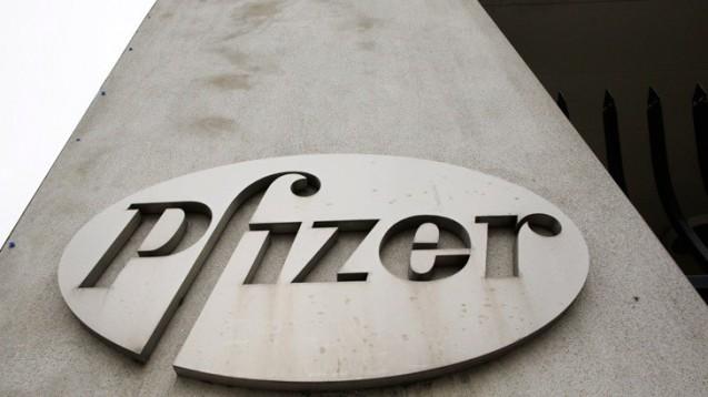 Pfizer-Zentrale in New York (Archiv): Gigantischer Deal geplant (Bild: dpa)