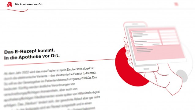 Das E-Rezept kommt: Die ABDA hat eine neue Webseite gelauncht. (Screenshot: daserezeptkommt.de)