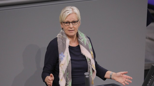 Die Grünen-Bundestagsfraktion um ihre gesundheitspolitische Sprecherin Maria Klein-Schmeink hakt bei der Corona-Schutzmasken-Verordnung nach. (c / Foto: imago images / Metodi Popow)