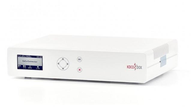 """Der CGM-Konnektor """"KoCoBox MED+"""" wurde für das Zulassungsverfahren zum""""E-Health-Konnektor"""" eingereicht. (m / Foto: Screenshot Kocobox.de)"""