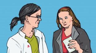Eine Patientin mit Gestationsdiabetes