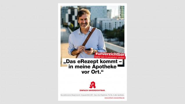 """Im Fokus der neuen Hauptwelle der """"Einfach unverzichtbar""""-Kampagne steht das E-Rezept. (c / Foto: ABDA)"""