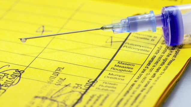 Das Bundeskabinett hat am heutigen Mittwoch neben der Apothekenreform auch das Masernschutzgesetz mit einer Impfpflicht für Masern beschlossen. (m / Foto: imago images / Arnulf Hettrich)