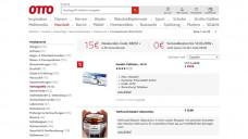 "In der Rubrik ""Haushalt"" bietet Otto.de auch Arzneimittel an. (Screenshot: otto.de / PTAheute.de)"