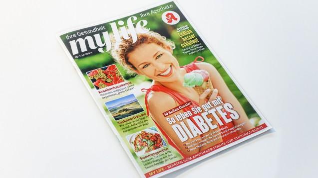 Seit April 2019 gibt es die neue Kundenzeitschrift MyLife in den Apotheken. Der Noweda zufolge hat die Zahl der teilnehmenden Apotheken trotz Zahlungspflicht seit Jahresbeginn nur um etwa 5 Prozent abgenommen. (m / Foto: DAZ.online)