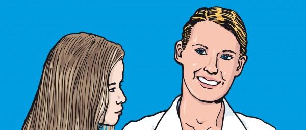 Eine Patientin mit Morbus Crohn