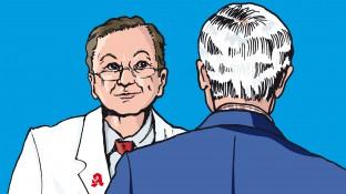 Ein Diabetiker mit Erysipel