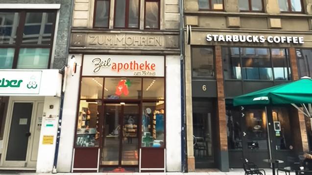 Bei der Zeil-Apotheke zum Mohren taucht nebem dem reinen Namensproblem auch ein Thema mit dem Denkmalschutz auf. (Bild: Alexander Schwartz)