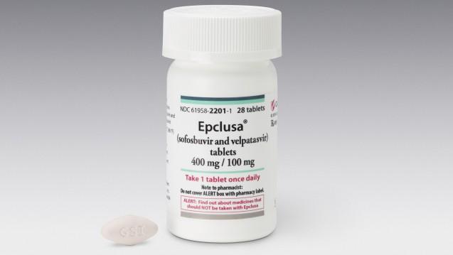 Auch Epclusa (hier eine US-amerikanische Originalpackung) ist schon Fälschen zum Opfer gefallen. (Foto:picture alliance / AP Photo)