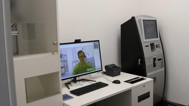 Und schon wieder geöffnet: Die Video-Abgabestelle von DocMorris in Hüffenhardt hat nach der Schließung durch das Regierungspräsidium wieder geöffnet. (Foto: diz)